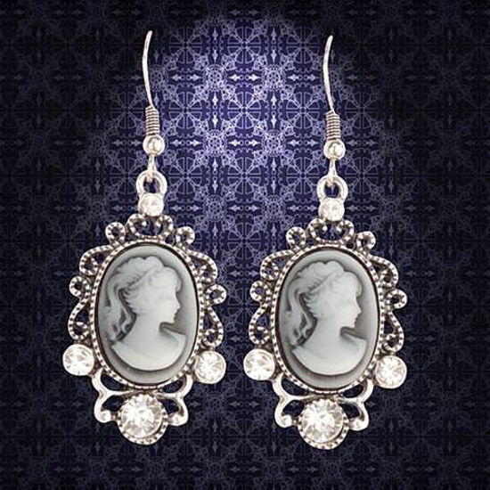 Picture of Victorian Silver Cameo Earrings
