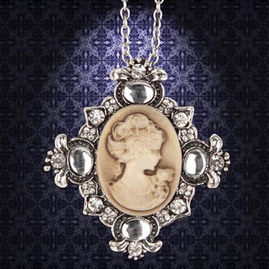 Picture of Victorian Brown Cameo Necklace