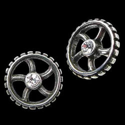 Picture of Diamond Crank Wheel Stud Earrings