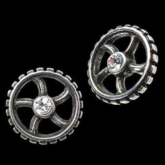 Picture of Diamond Crank Wheel Stud Earrings