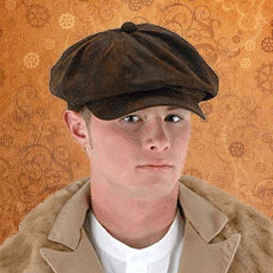 Picture of Steampunk Driver Brown Suede Hat