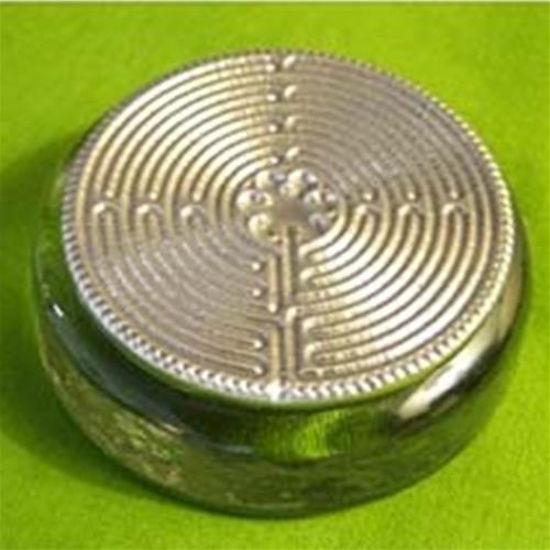 Picture of Green Glass Labyrinth Paperweight