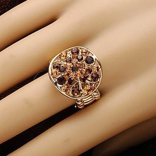 Picture of Sunburst Amber Adjustable Ring