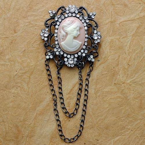 Picture of Victorian Pink Cameo Brooch