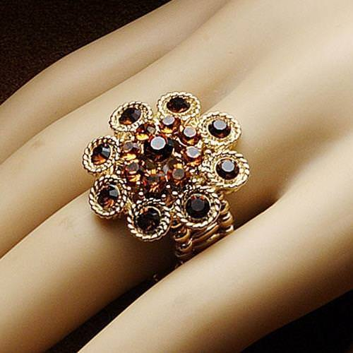 Picture of Bejeweled Amber Adjustable Ring