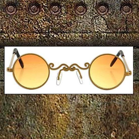 Picture of Pot of Gold Wire Rim Glasses Orange Lens