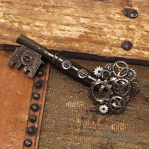 Picture of Steampunk Large Key Gear Pin