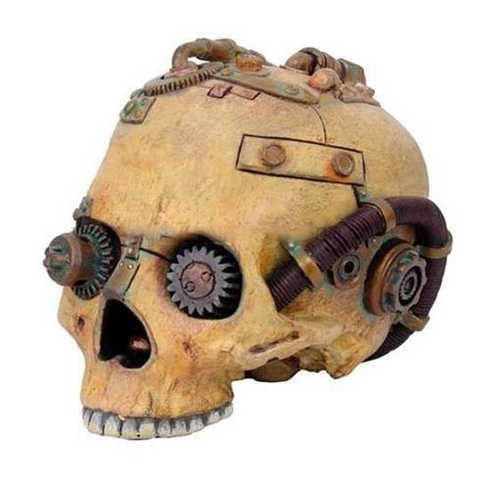 Steampunk Skull Statue