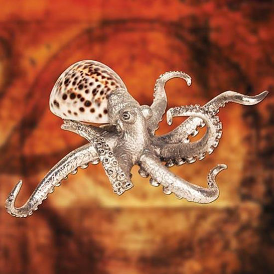 Picture of Pewter Octopus with Shell