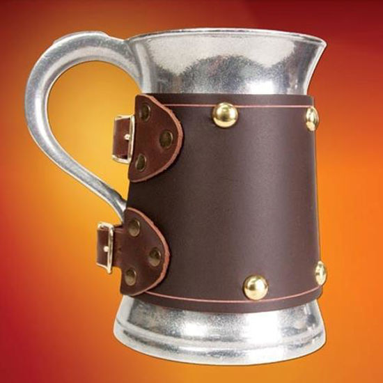 Picture of Metal Mug with Brown Wrap