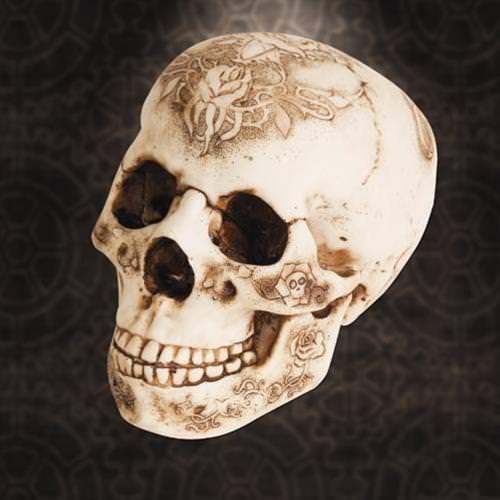 Victorian Skull Statue