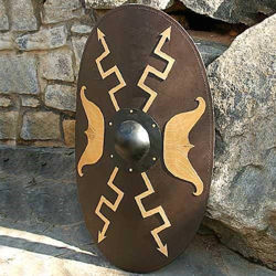 Wooden Oval Roman Shield - Windlass