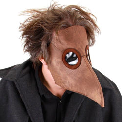 Plague Doctor Mask with elongated beak and plastic eye lenses