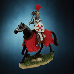 Picture of Armored Crusader on Horseback Statue