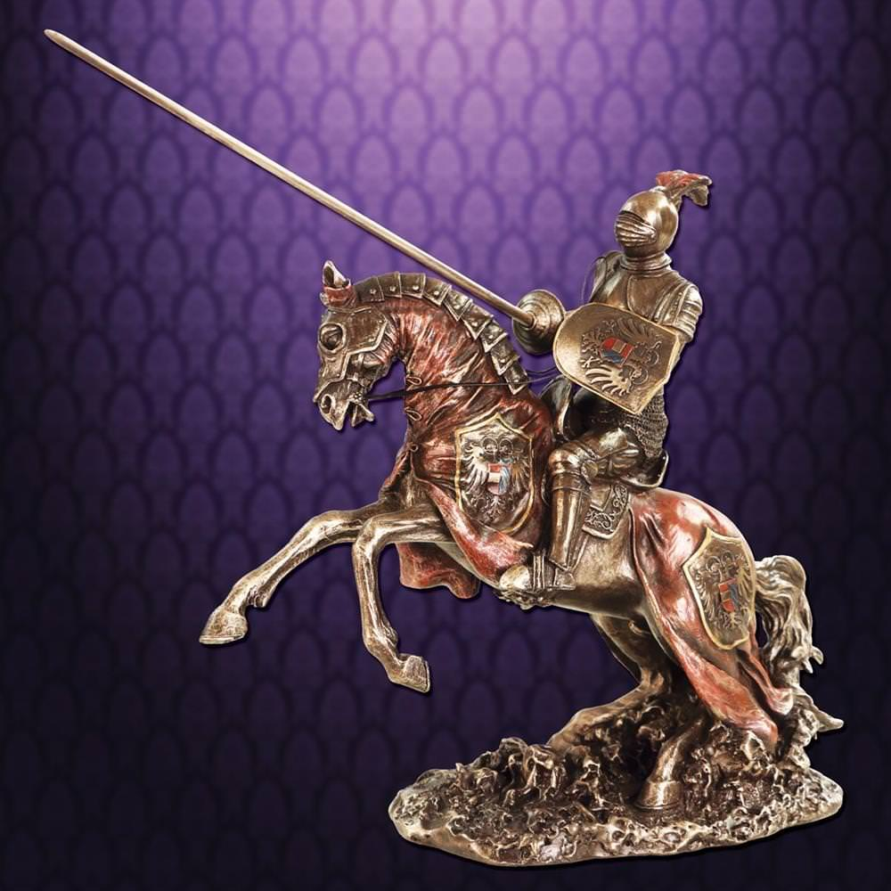 Picture of Jousting Knight w/ Eagle Statue