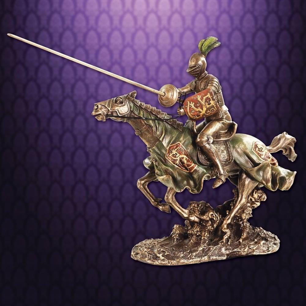 Picture of Jousting Knight w/ Lion Statue