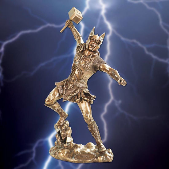 Picture of Thor God of Thunder Statue