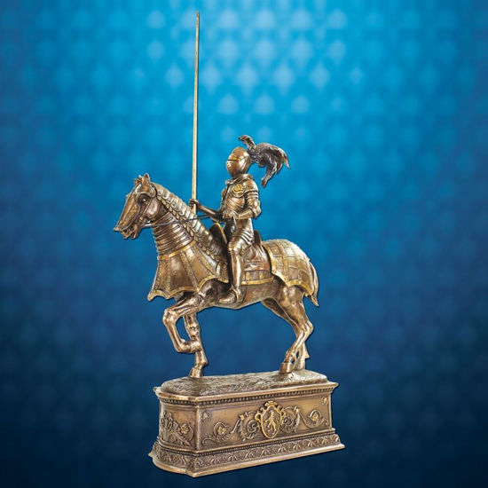 Picture of Equestrian Knight in Armor Statue