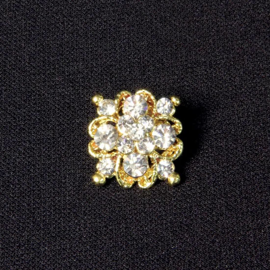 Picture of Crystal Cluster Cravat Pin