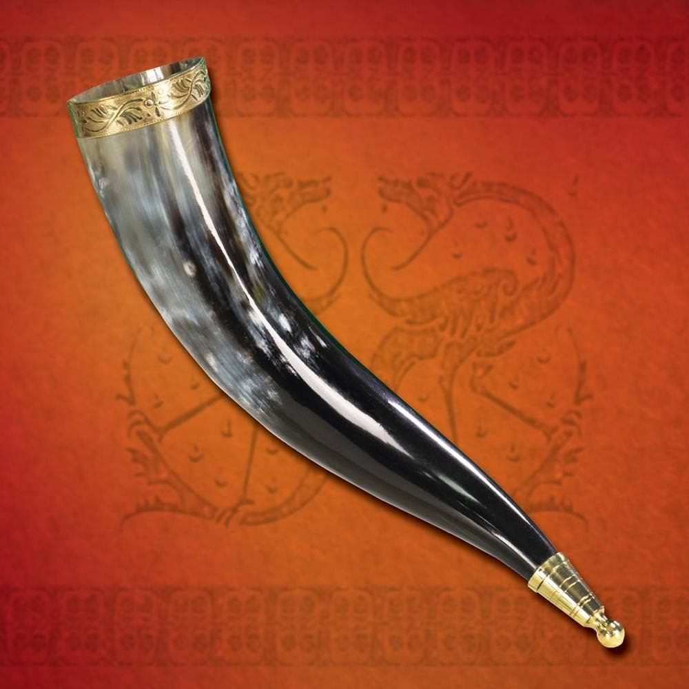 Picture of Brass Rim Drinking Horn