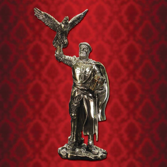 Picture of Hospitaller Knight with Falcon Statue