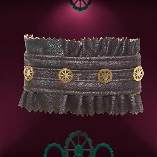 Picture of Faux Leather and Gears Bracelet