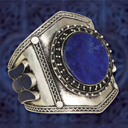 Picture of Viking Lapis Cuff Bracelet