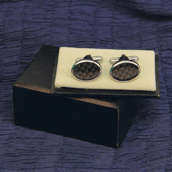 Picture of Cuff Links Black Checkered