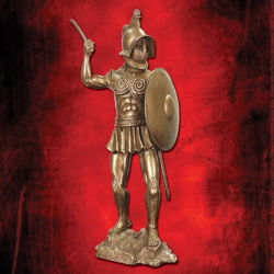 Spartacus Warrior with Shield Statue