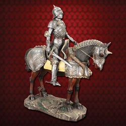 Picture of Gothic Armored Knight on Horseback Statue
