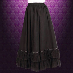 Picture of Reversible Black Parlor Skirt