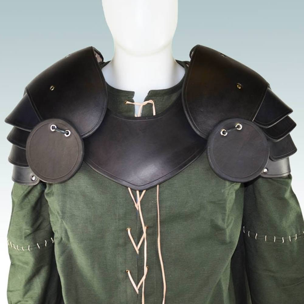 Picture of Knightly Leather Pauldrons with Besagews