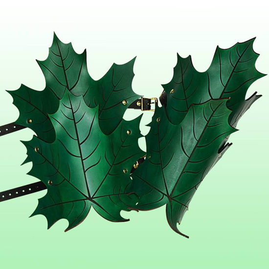 Picture of Elven Leaf Leather Greaves