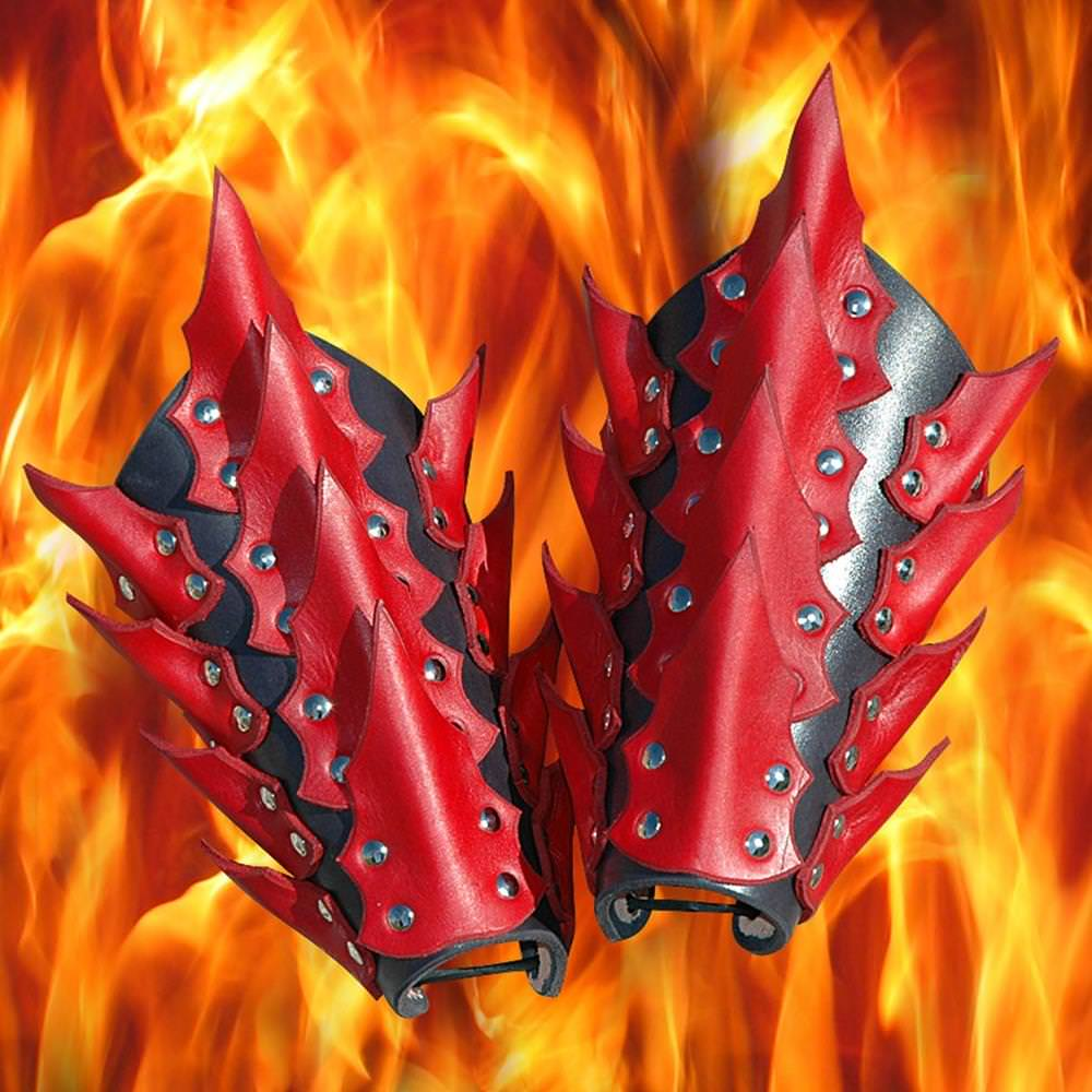 Picture of Dragon King Leather Vambraces