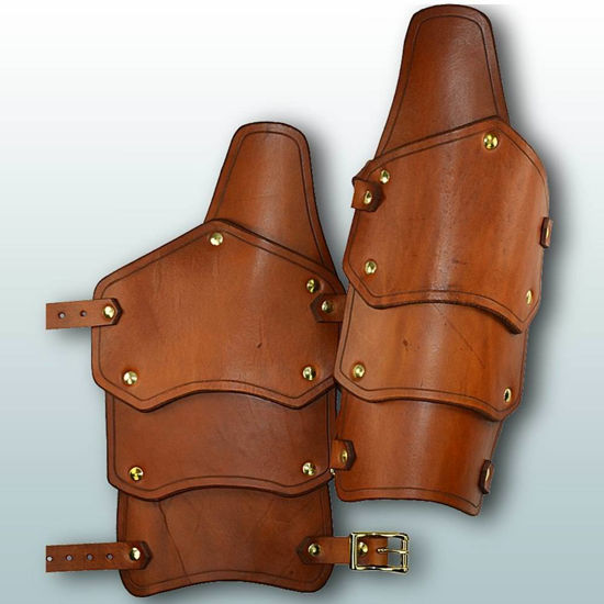 Picture of Reginald Leather Arm Vambraces