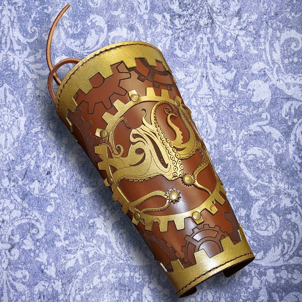 Picture of Steampunk Single Leather Vambrace