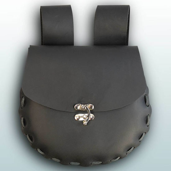 Picture of Round Medium Leather Pouch