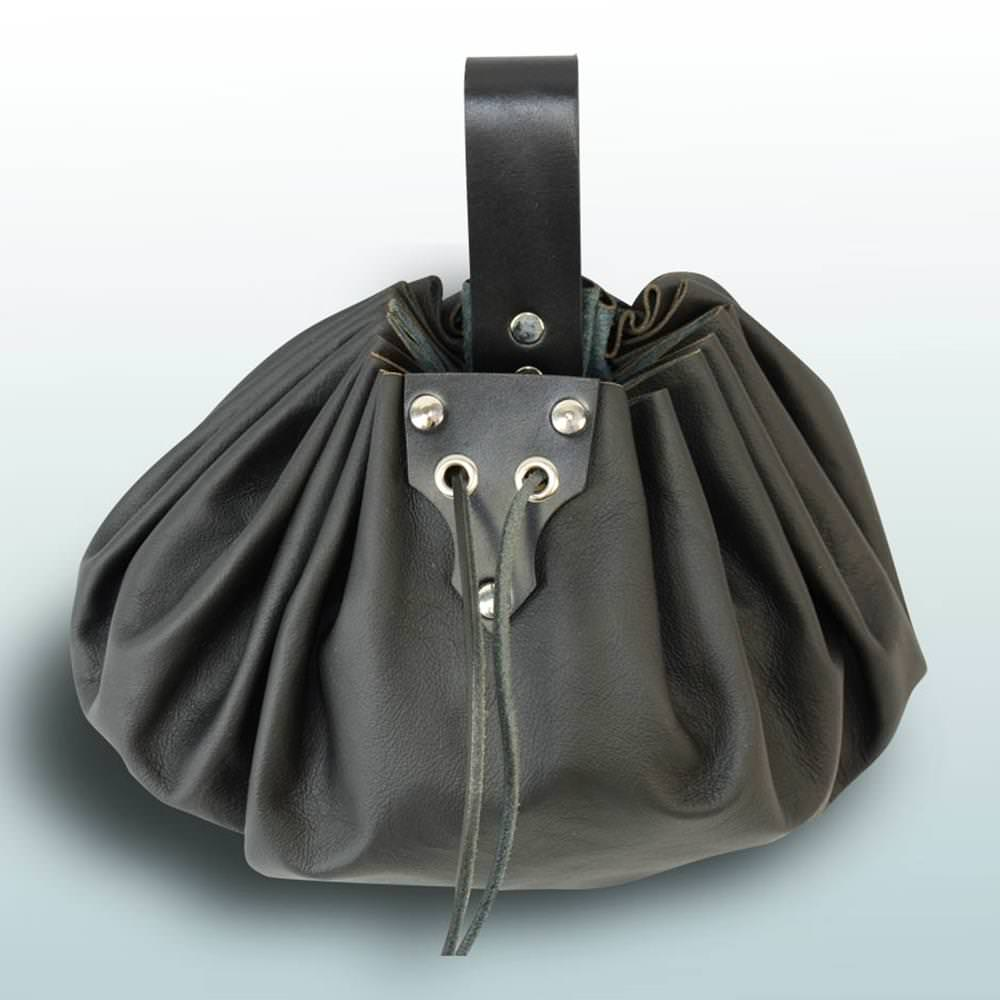 Picture of Round Large Leather Pouch