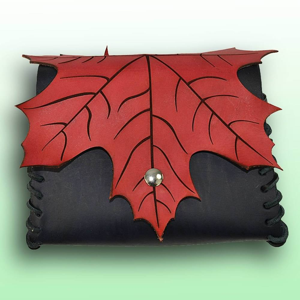 Picture of Elven Leaf Leather Pouch