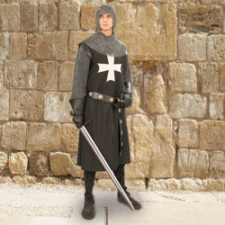 Black Cotton Hospitaller Tunic