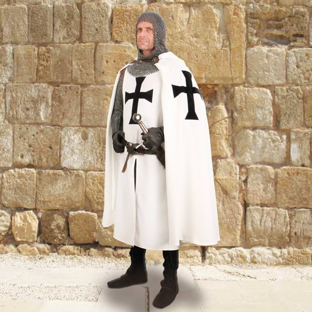 Teutonic Knight's Hooded Cape