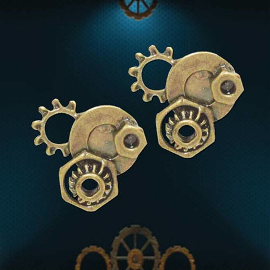 Picture of Steampunk Gear Stud Earrings