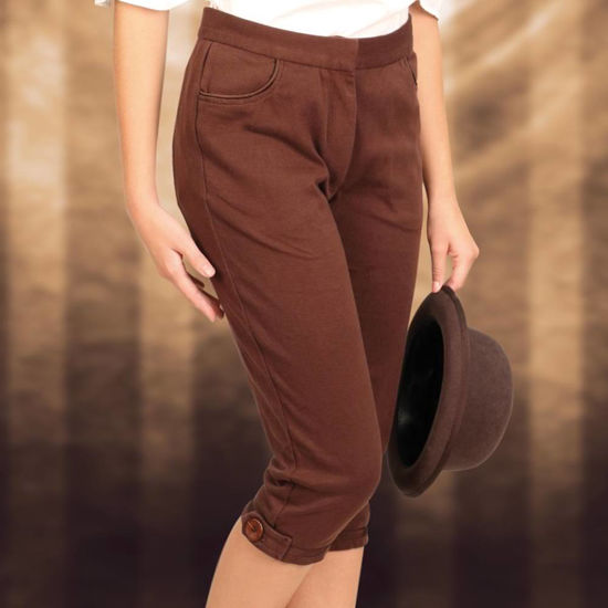 Picture of Ladies Brown Capri Pants