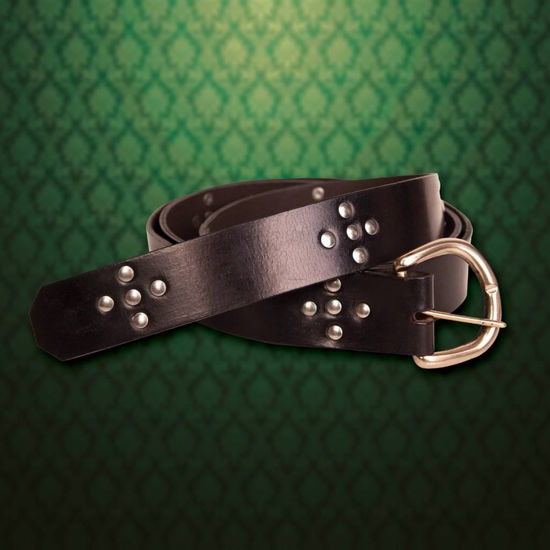 Huntington - Medieval Black Leather Belt