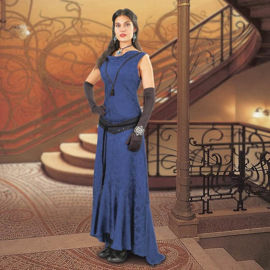 Blue Hellfire Woman's 19th Century Gown