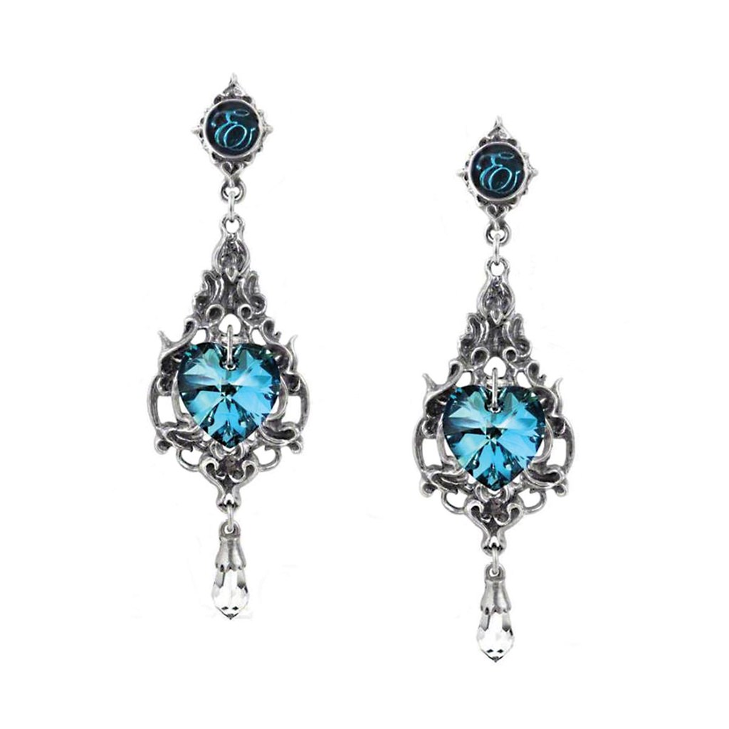 Picture of Empress Eugenie's Blue Heart Earrings