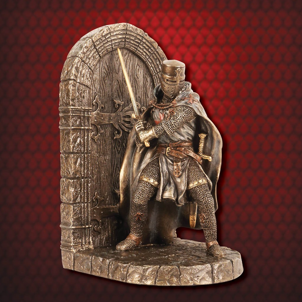 Picture of Maltese Knight Defense of the Realm Bookend