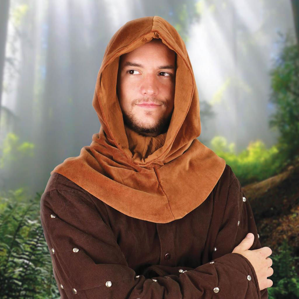 Picture of Medieval Velvet Cowl Hood