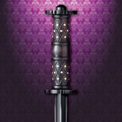 Raven Rondel Dagger - Rosewood handle