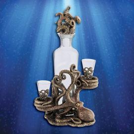 Picture of Octopus Spirit Decanter Set